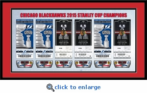 2015 NHL Stanley Cup Final Tickets to History Framed Print - Chicago Blackhawks
