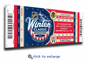 2015 NHL Winter Classic Canvas Mega Ticket - Blackhawks vs Capitals