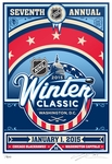 2015 NHL Winter Classic Sports Propaganda Handmade LE Serigraph Large - Blackhawks vs Capitals