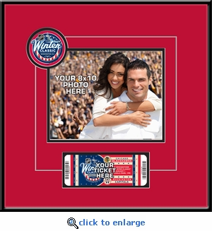 2015 NHL Winter Classic Your 8x10 Photo Ticket Frame - Blackhawks vs Capitals