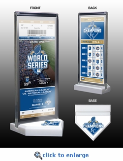 2015 World Series Champions Commemorative Ticket Display - Kansas City Royals