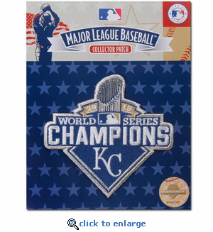 2015 World Series Champions Embroidered Patch - Kansas City Royals