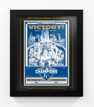 2015 World Series Champions Sports Propaganda Framed 13x16 Digital Print - Kansas City Royals