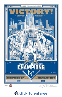 2015 World Series Champions Sports Propaganda Handmade LE Serigraph - Kansas City Royals