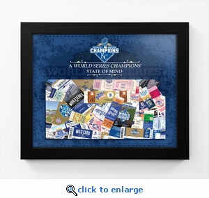 2015 World Series Champions State of Mind Framed Print - Kansas City Royals - Kansas