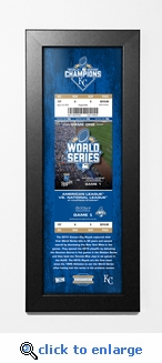2015 World Series Framed Ticket Print - Kansas City Royals