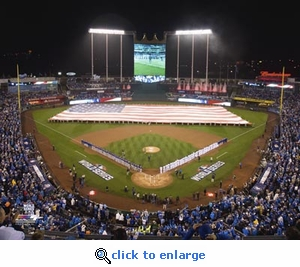 2015 World Series Opening Ceremony Kaufmann Stadium 8x10 Photo - Kansas City Royals