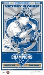2015 World Series Sports Propaganda Handmade LE Serigraph - MVP Salvador Perez - Royals
