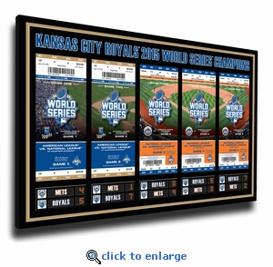 2015 World Series Tickets to History Canvas Print - Kansas City Royals