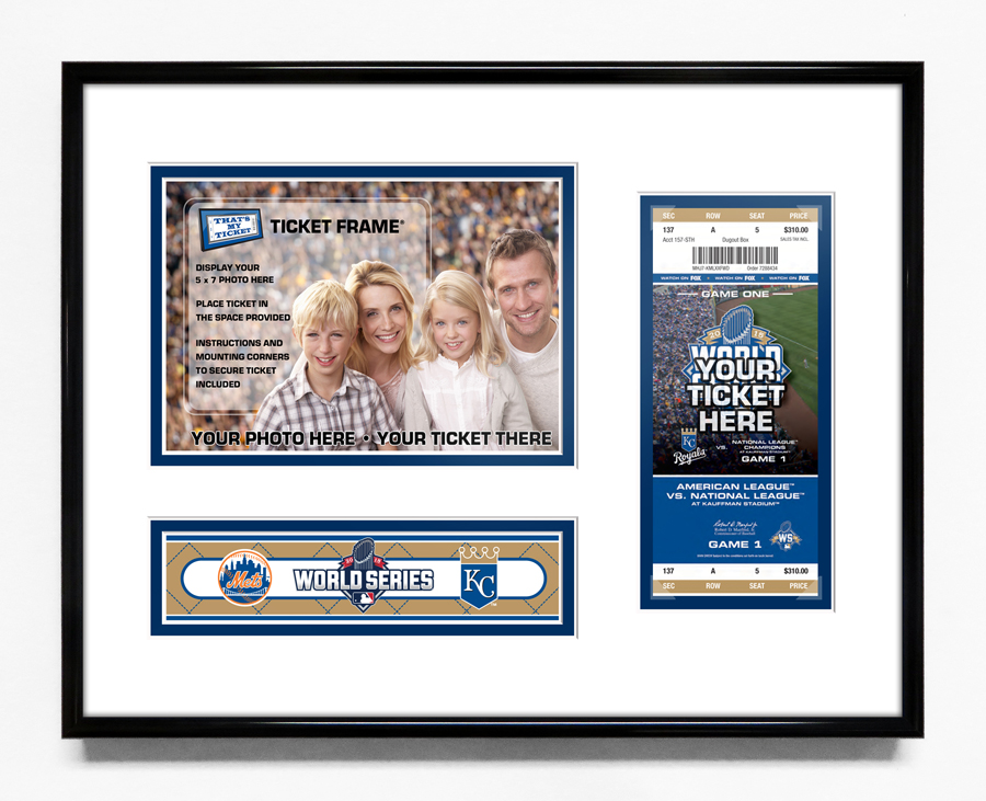 2015 World Series 5x7 Photo Ticket Frame - Kansas City Royals