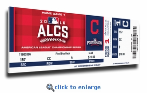 2016 ALCS Canvas Mega Ticket - Cleveland Indians