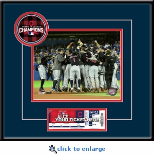 2016 ALCS Champions 8x10 Photo Ticket Frame - Cleveland Indians