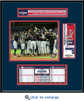 2016 ALCS Champions Ticket Frame Jr - Cleveland Indians