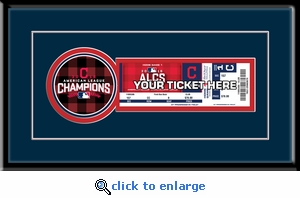 2016 ALCS Single Ticket Frame - Cleveland Indians