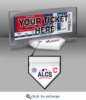 2016 ALCS Ticket Display Stand - Blue Jays vs Indians
