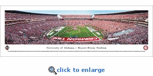 2016 Iron Bowl - Alabama Crimson Tide vs Auburn Tigers - Panoramic Photo (13.5 x 40)