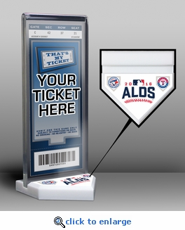 2016 ALDS Ticket Display Stand - Blue Jays vs Rangers