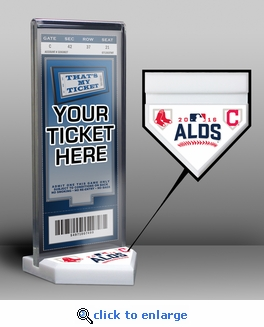 2016 ALDS Ticket Display Stand - Red Sox vs Indians
