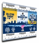 2016 MLB All-Star Game Canvas Mega Ticket Strip - San Diego Padres