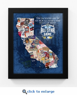 2016 MLB All-Star Game Personalized State of Mind Framed Print - San Diego Padres