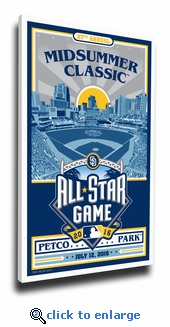 2016 MLB All-Star Game Sports Propaganda Canvas Print - San Diego Padres