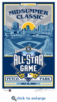 2016 MLB All-Star Game Sports Propaganda Handmade LE Serigraph - San Diego Padres