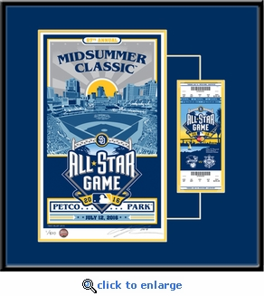 2016 MLB All-Star Game Sports Propaganda Serigraph Ticket Frame - San Diego Padres