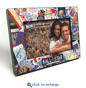 2016 NBA All-Star Game Ticket Collage Black Wood Edge 4x6 inch Picture Frame - Toronto Raptors