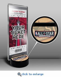 2016 NBA All-Star Game Ticket Display Stand - Toronto Raptors