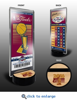 2016 NBA Champions Stand with Commemorative Ticket - Cleveland Cavaliers