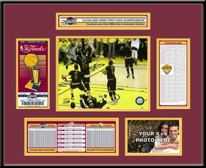 2016 NBA Champions Ticket Frame - Cleveland Cavaliers