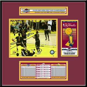 2016 NBA Champions�Ticket Frame Jr - Cleveland Cavaliers