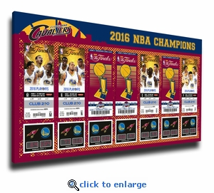 2016 NBA Champions Tickets to History Canvas Print - Cleveland Cavaliers