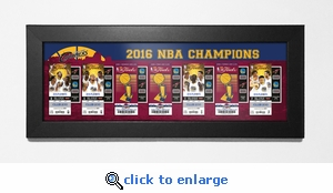 2016 NBA Champions Tickets to History Framed Print - Cleveland Cavaliers