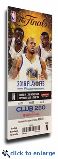 2016 NBA Finals Game 2 Canvas Mega Ticket - Golden State Warriors