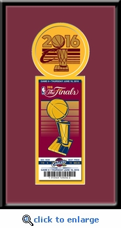 2016 NBA Finals Single Commemorative Ticket Frame - Cleveland Cavaliers