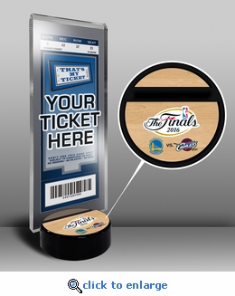 2016 NBA Finals Ticket Display Stand - Cavaliers vs Warriors