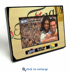 2016 NBA Finals Black Wood Edge 4x6 inch Picture Frame - Cavaliers vs Warriors