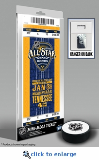 2016 NHL All-Star Game Mini-Mega Ticket - Nashville Predators