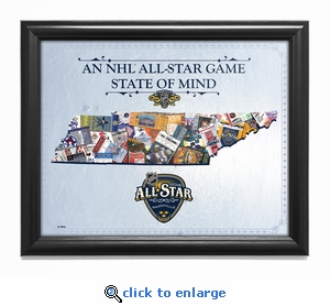 2016 NHL All-Star Game State of Mind Framed Print - Nashville Predators