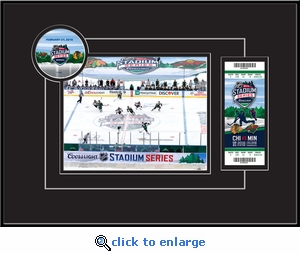 2016 NHL Stadium Series 8x10 Photo Ticket Frame - Blackhawks vs Wild