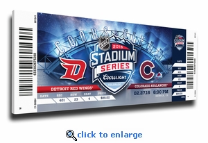 2016 NHL Stadium Series Canvas Mega Ticket - Red Wings vs Avalanche