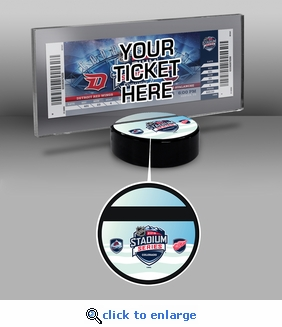 2016 NHL Stadium Series Hockey Puck Ticket Stand - Red Wings vs Avalanche