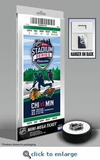 2016 NHL Stadium Series Mini-Mega Ticket - Blackhawks vs Wild