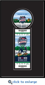2016 NHL Stadium Series Single Ticket Frame - Blackhawks vs Wild