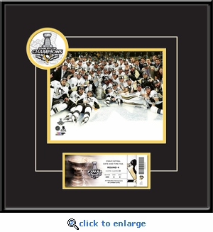 2016 NHL Stanley Cup Champions 8x10 Photo Ticket Frame - Pittsburgh Penguins