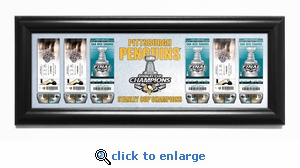2016 NHL Stanley Cup Champions Tickets to History Framed Print - Pittsburgh Penguins