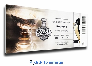 2016 NHL Stanley Cup Final Game 5 Canvas Mega Ticket - Pittsburgh Penguins
