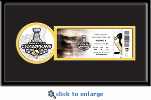 2016 NHL Stanley Cup Final Single Ticket Frame - Pittsburgh Penguins