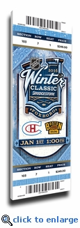 2016 NHL Winter Classic Canvas Mega Ticket - Canadiens vs Bruins